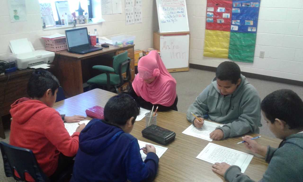 South Elementary Students study English as a Second Language