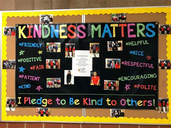 Kindness Pledge Bulletin Board