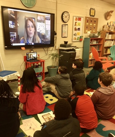 Students Skype with Award-Winning Authors!