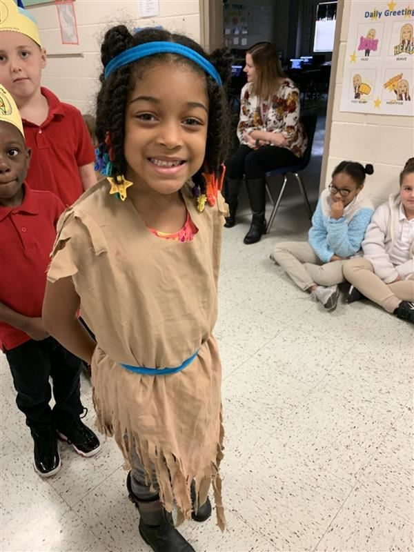 South Elementary Kindergarten students had a Native American parade!