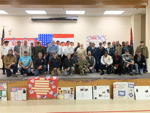 Veteran's are honored at South Elementary