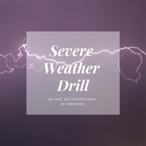 Thelma Barker Elementary students, faculty, and staff practiced the severe weather drill.