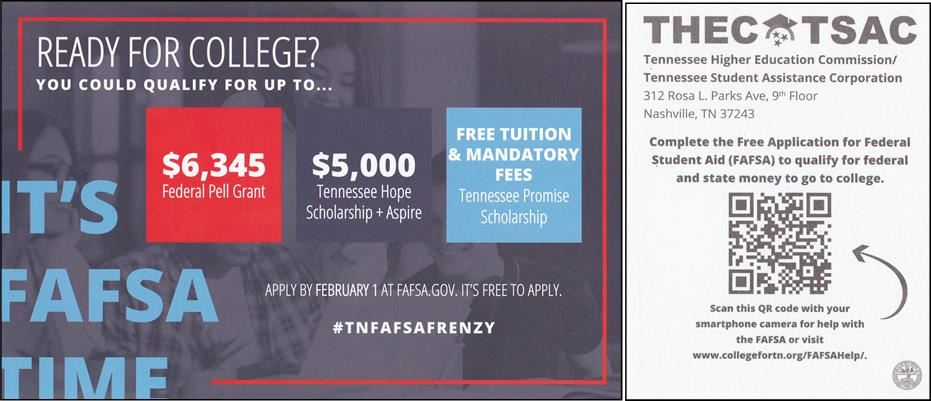 FAFSA Frenzy Flyer with QR Code