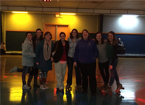 Teachers join the fun at family skate night