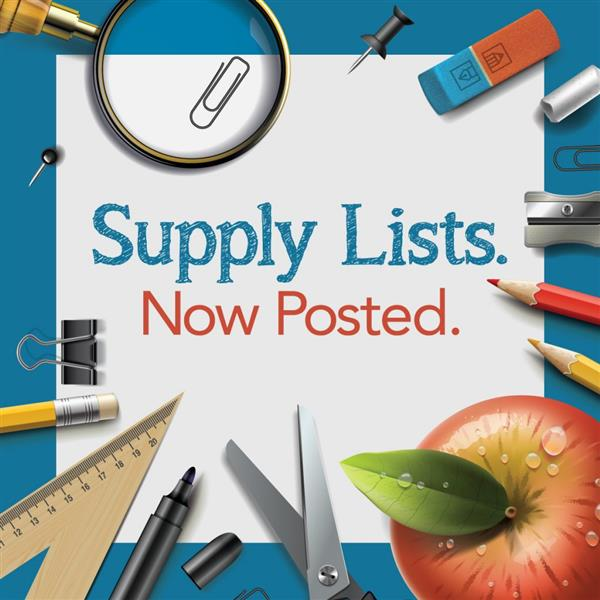 Supply lists now posted