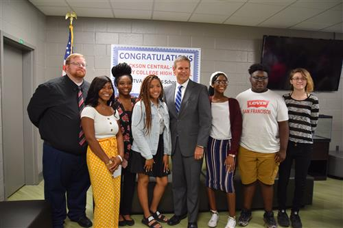 ECH Students with Governor