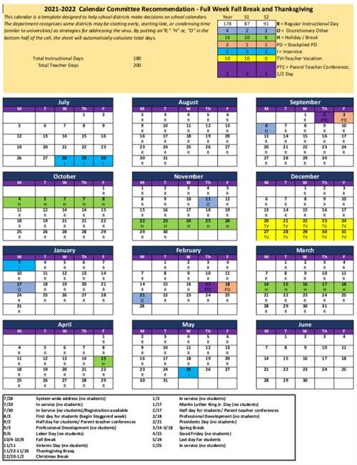 Public review of School Calendar