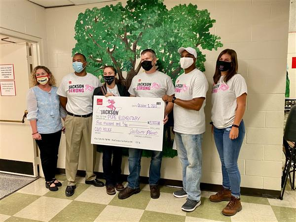 Owens Corning donates to Pope School