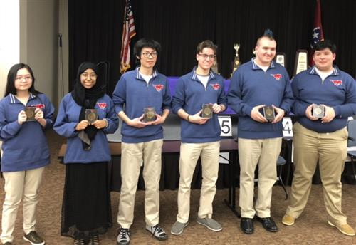 Madison Academic Students with honors from State Academic Decathlon Championship