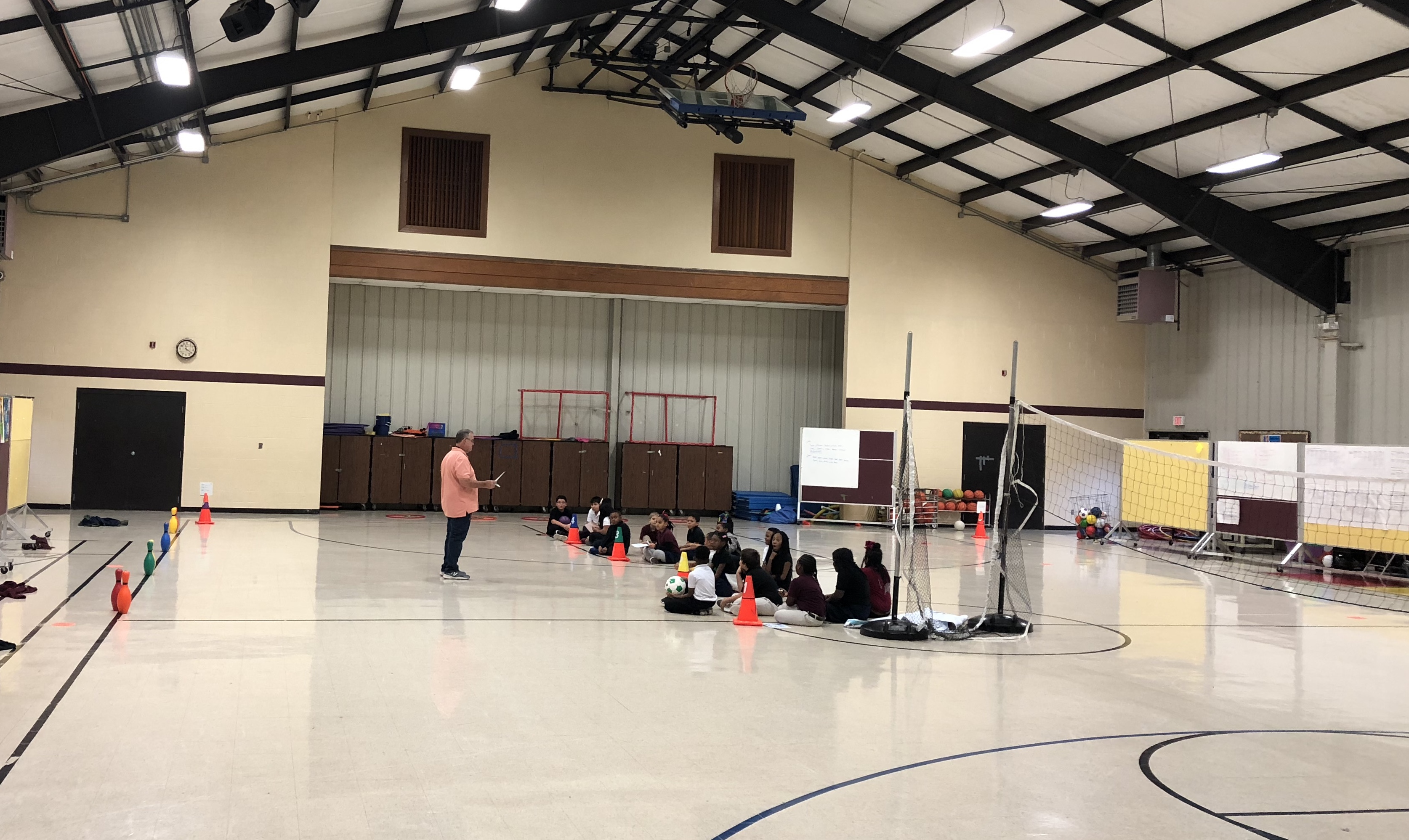 Gym class at Andrew Jackson Elementary